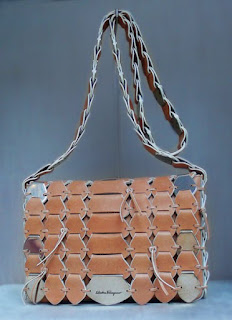 Woven leather bag from Salvatore Ferragamo.
