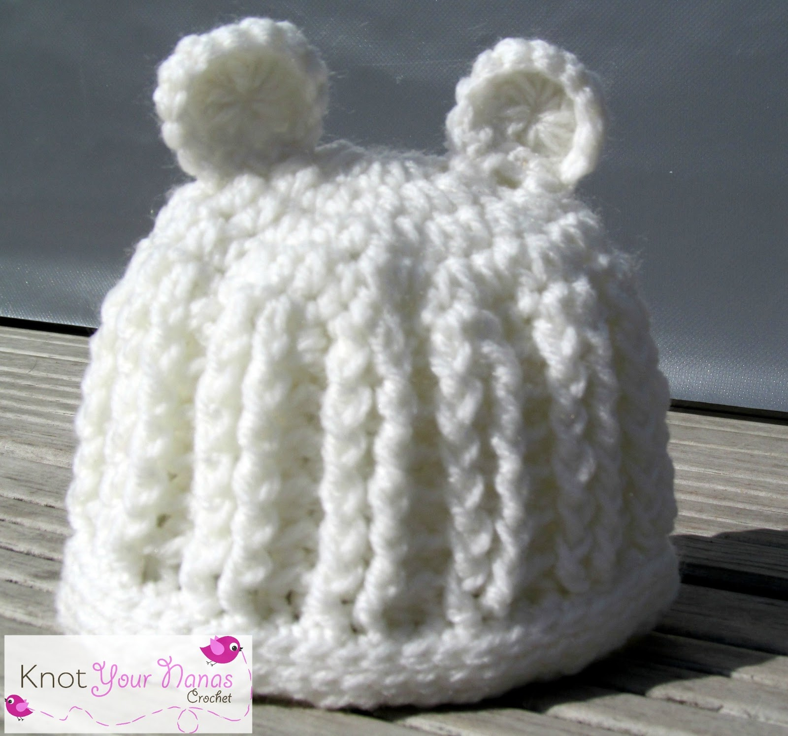 Crochet Pattern For Baby Hat With Ears : Knot Your Nanas Crochet: Baby Hat