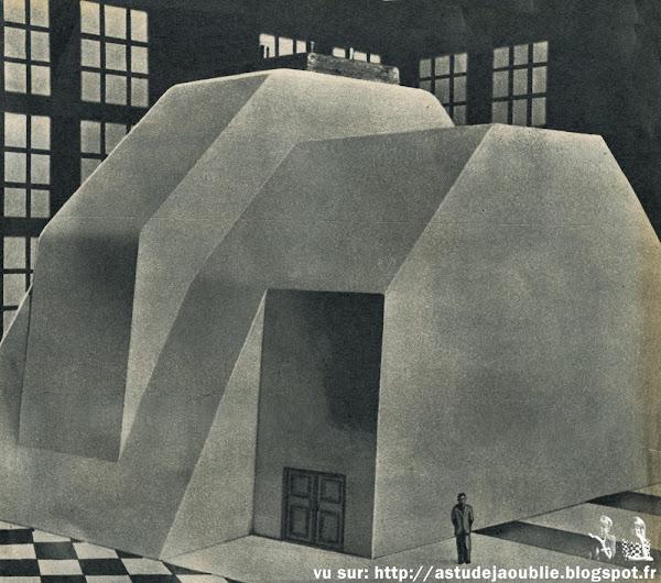 Marcoule - Maquette de l'avant-projet - Réacteur nucléaire G-1 - 1954