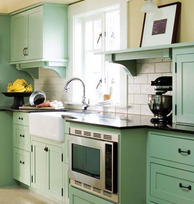 Modern home for Light green kitchen cabinets