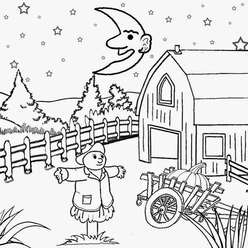 Harvest Moon Coloring Pages Craft Magic Moon Coloring