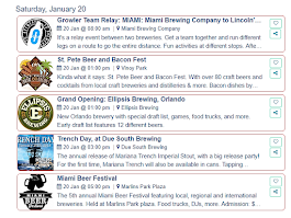 On Tap Florida Events: 1/20