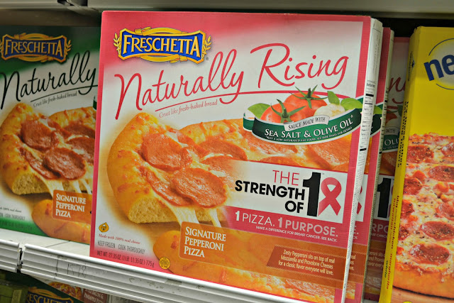 #Strengthof1CA, Freschetta pizza, Freschetta Strength of 1, Vons, Breast Cancer Awareness Month, Vons Flowers,