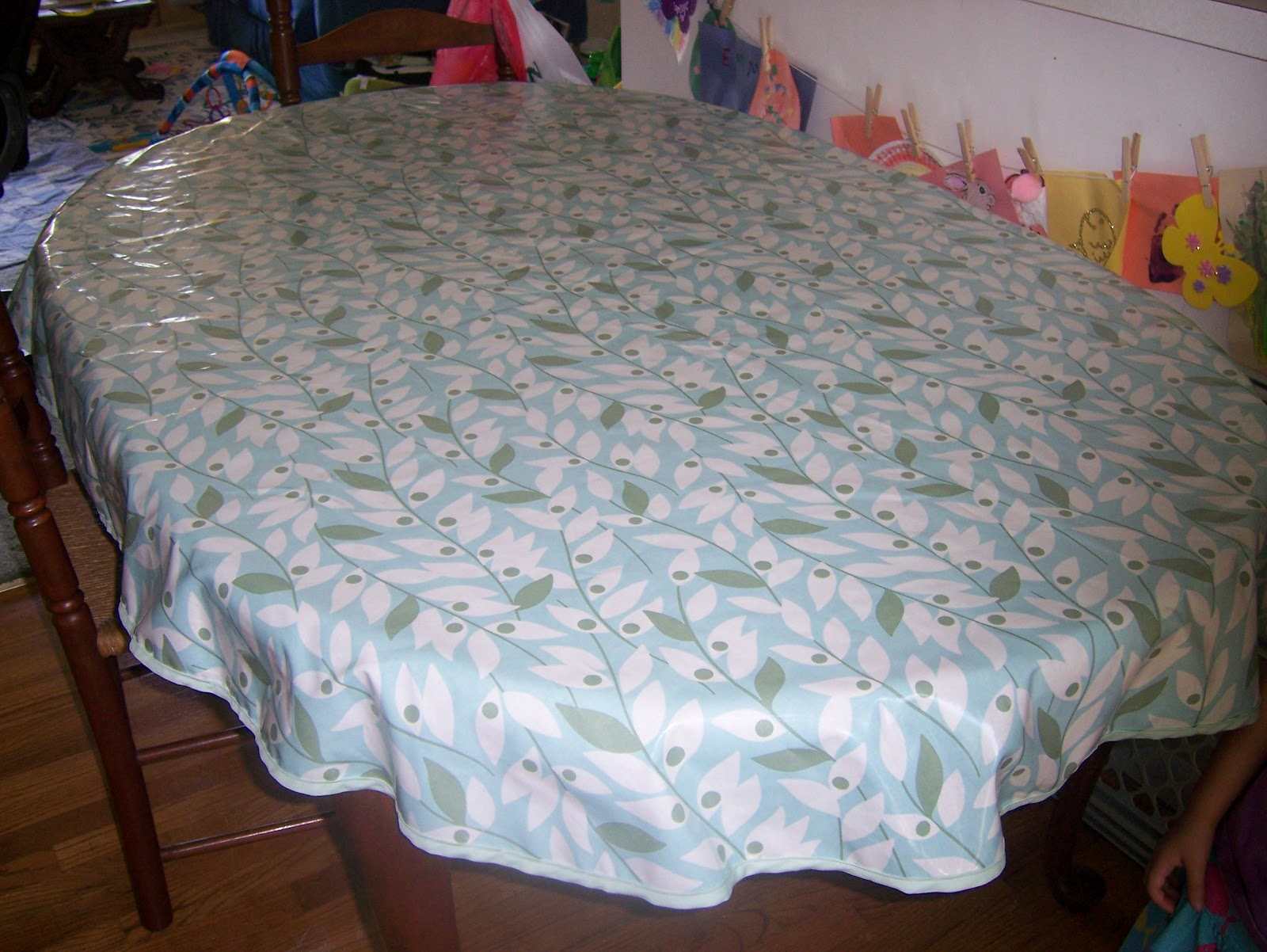 You Now Have A Cute Table Cloth!