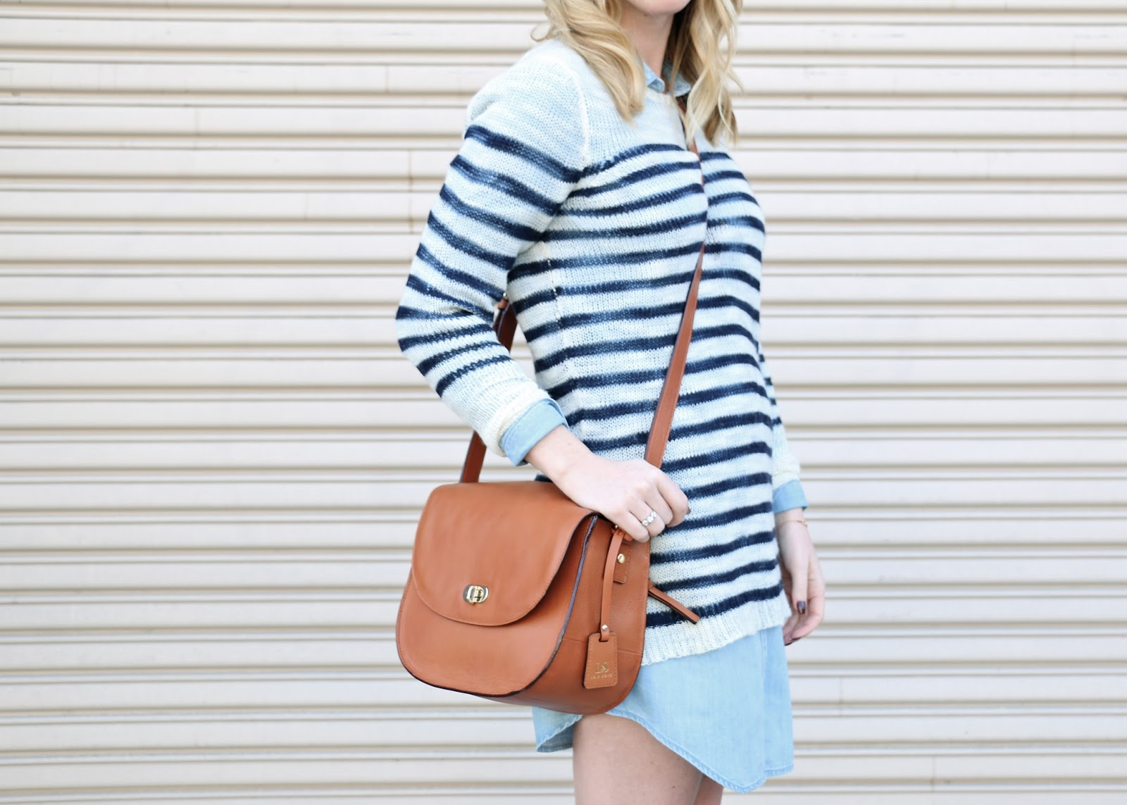 jcrew open knit sweater in stripe