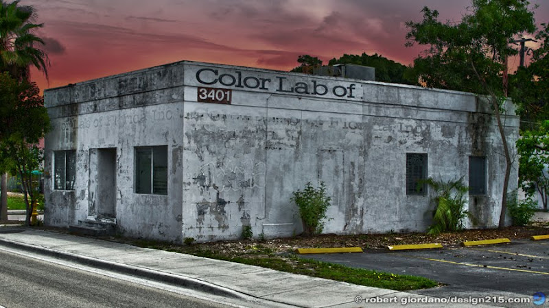 The old Color Lab of Florida in Fort Lauderdale, Copyright 2011 Robert Giordano
