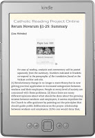 Catholic Reading Project blog on Kindle