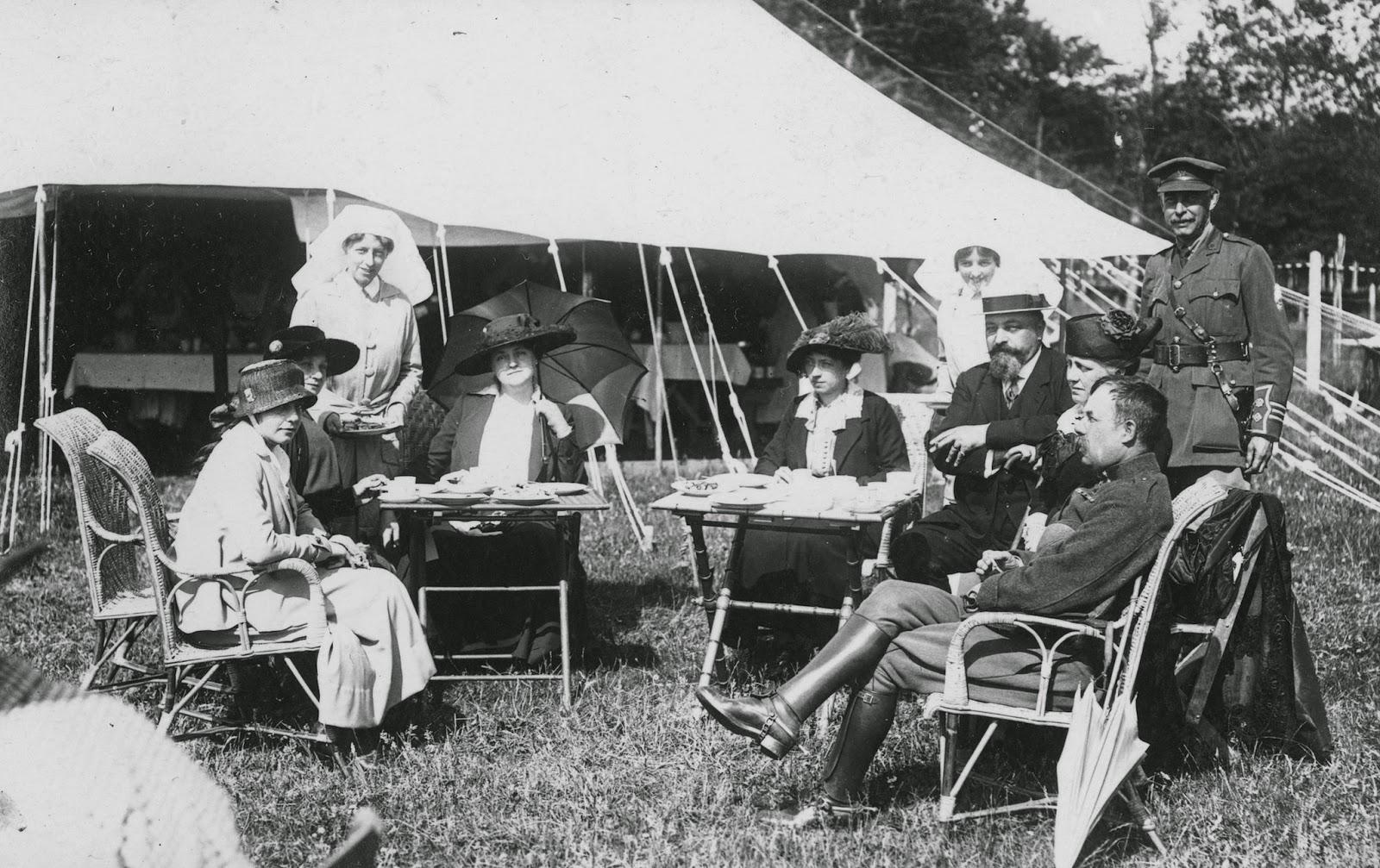 Nursing Sister Philips WW1 Photo Album 16R Tea Party