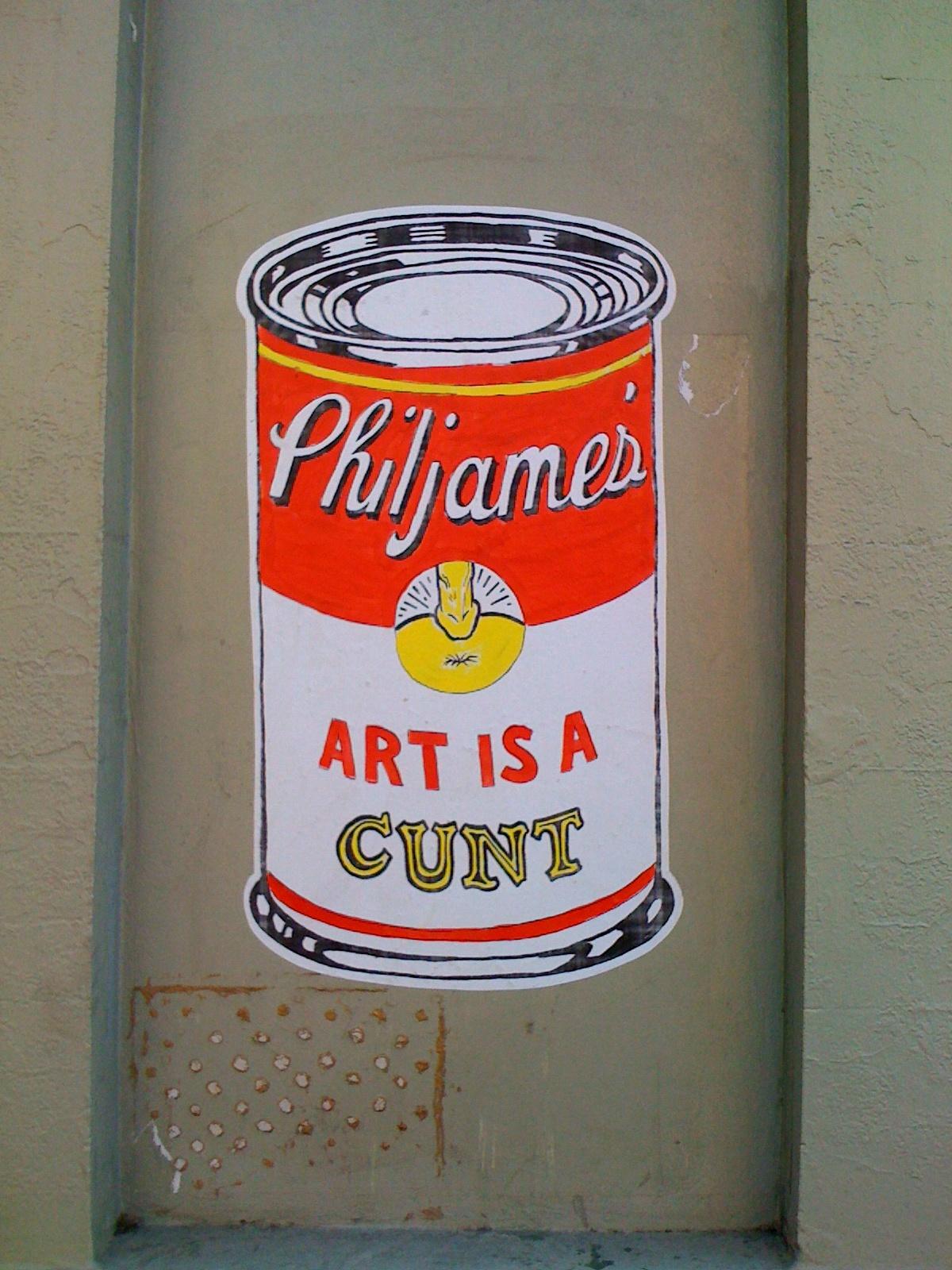 http://1.bp.blogspot.com/-CezO_epcr0A/TWc9sRHxLyI/AAAAAAAAA-A/3ArmSEmRIfk/s1600/phil-james-art-cunt-poster-1.jpg