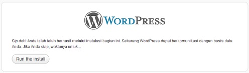 run wordpress Installer