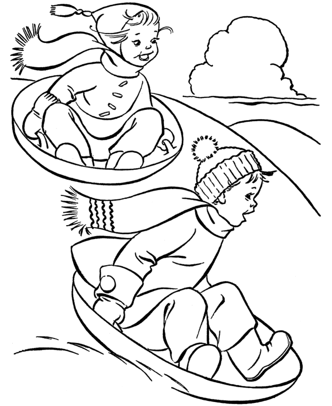 This is a picture of Breathtaking Snow Coloring Page
