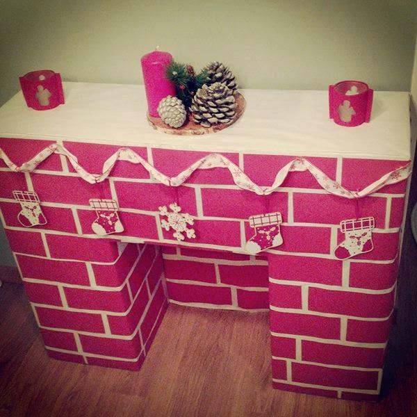 Chimenea de carton - Hacer chimenea decorativa ...