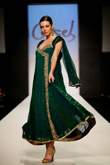 Gorgeous angrakha dress