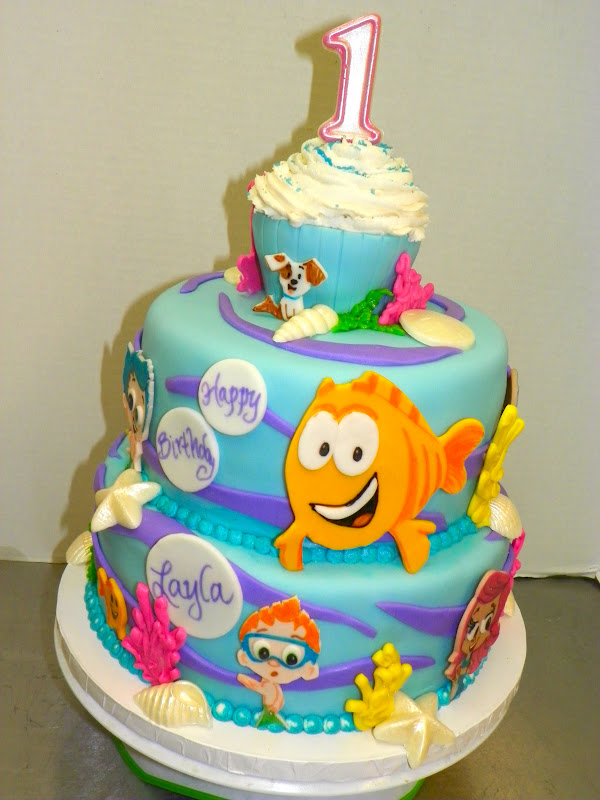 Plumeria cake studio bubble guppies first birthday cake - Bubble guppie birthday ideas ...