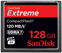 SanDisk Extreme 128 GB 120 mb/s*