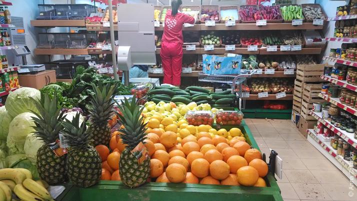Овощи и фрукты в Черногории
