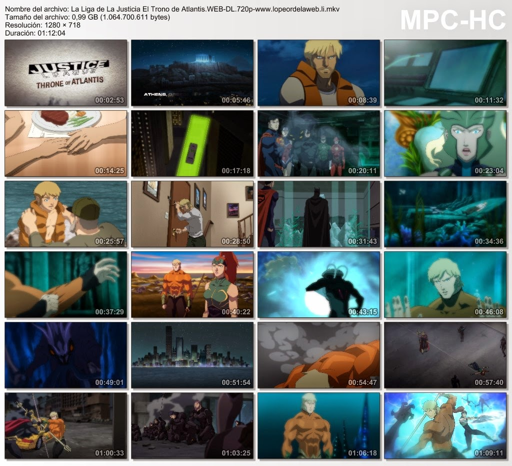 La Liga de La Justicia: El Trono de Atlantis (2015) WEB-DL