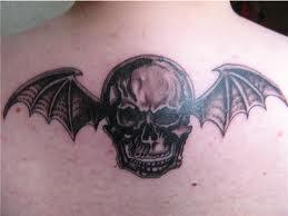 Bat Skull Tattoo Design Darkness