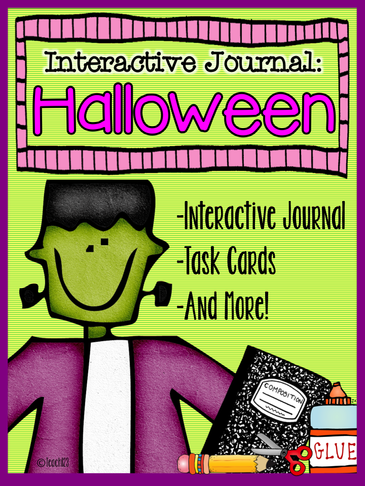 Halloween: Interactive Journal & Task Cards