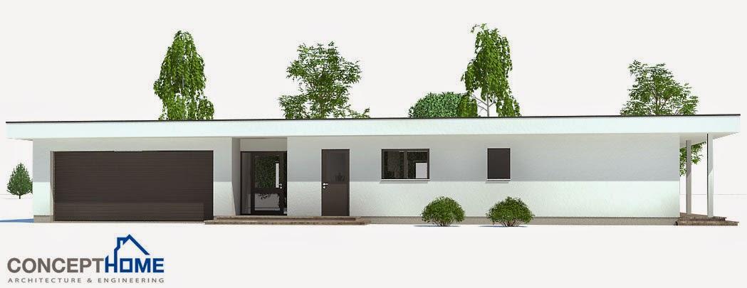 Plantas de casas modernas ch169 planta de casa moderna for Plantas modernas para jardin
