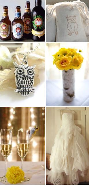Owl always love you owl themed wedding inspiration board