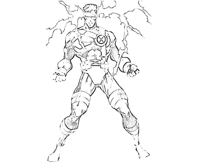 X Men Coloring Pages Cyclops