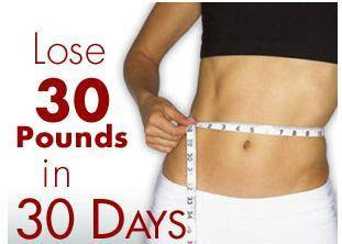 how to lose weight 30 pounds