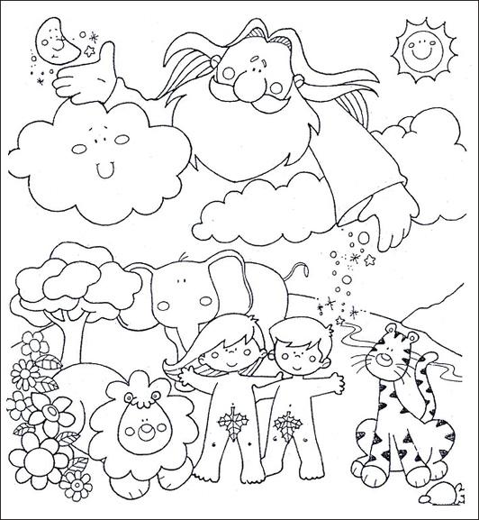 La creacion del mundo dibujo para colorear - Imagui