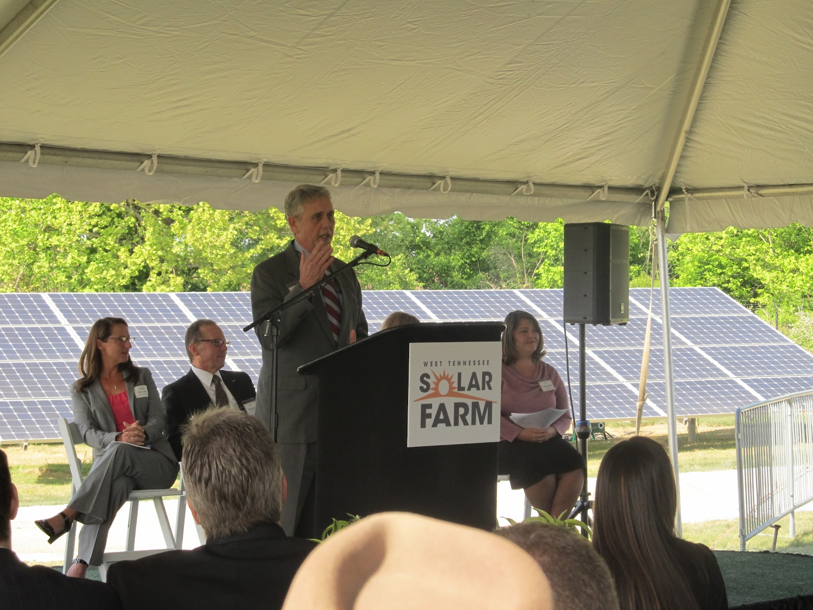 Tennessee haywood county stanton - Haywood County Mayor Franklin Smith Speaks At The Official Opening Of The West Tennessee Solar Farm Located In Stanton Tenn