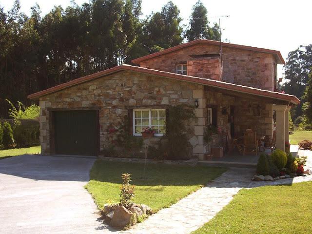 Construcciones r sticas gallegas casa en lubre for Disenos de casas rusticas de ladrillo