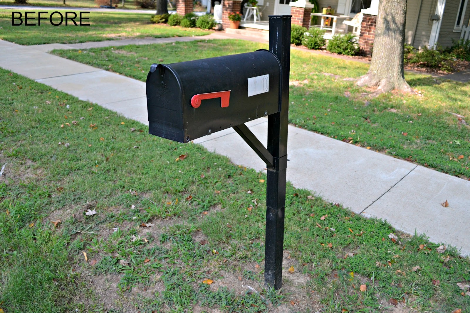 Vintage home love before after for Best mailbox design