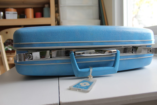 meg + andy: DIY- Vintage Suitcase Makeover pt 2: map lining