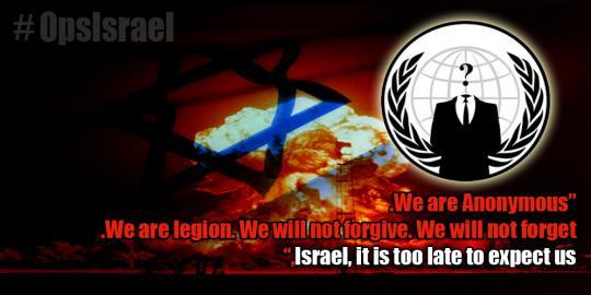 Galang kekuatan, Anonymous ingin lenyapkan Israel