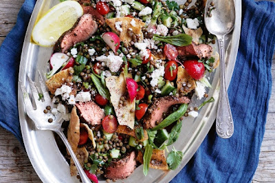 Lamb, Feta And Lentil Fattoush Recipe