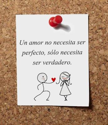 Un amor no necesita ser perfecto