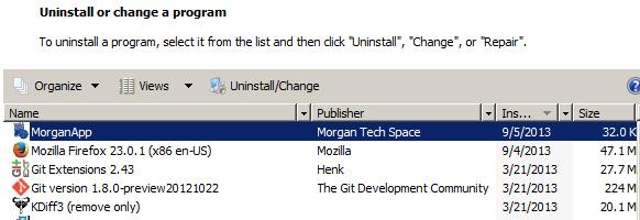 Add or Remove control panel application in C#