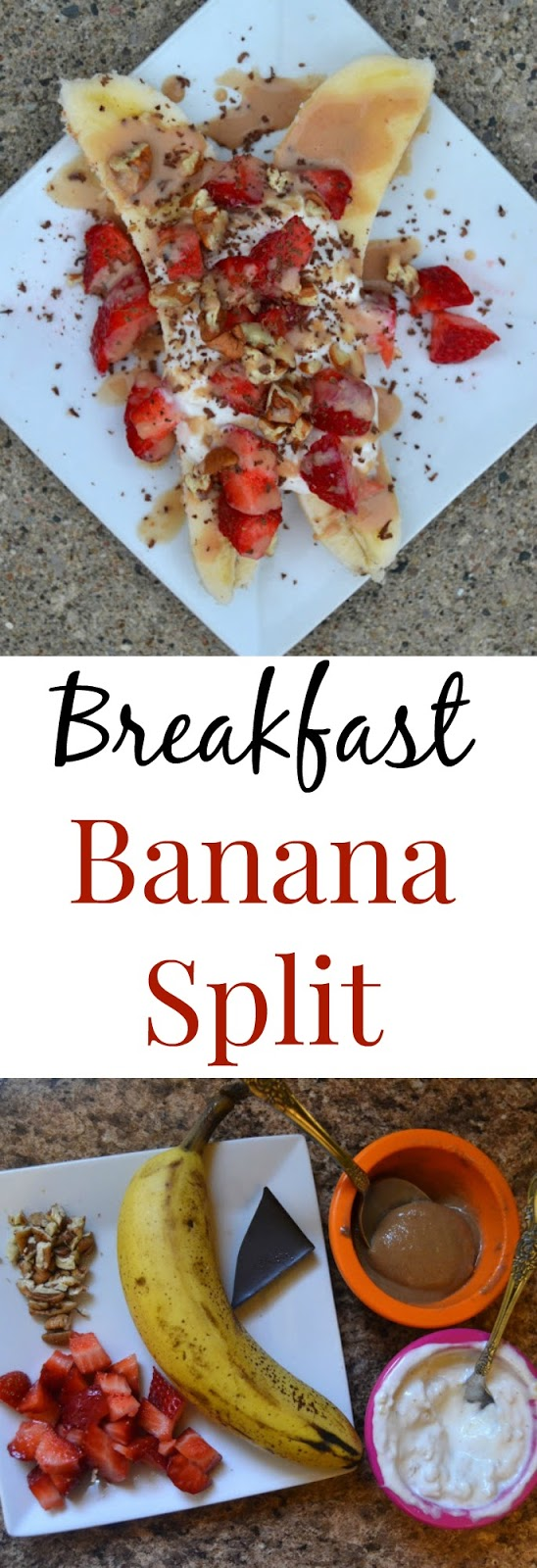 Breakfast Banana Split- all the flavors of your banana split but healthy enough to eat for breakfast! www.nutritionistreviews.com