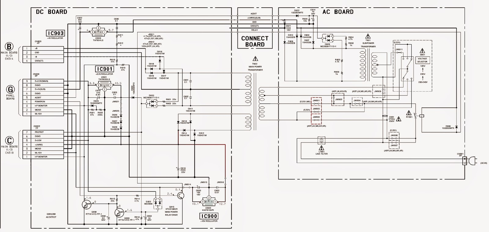 sony hcd-nez50 - schematic - power amp