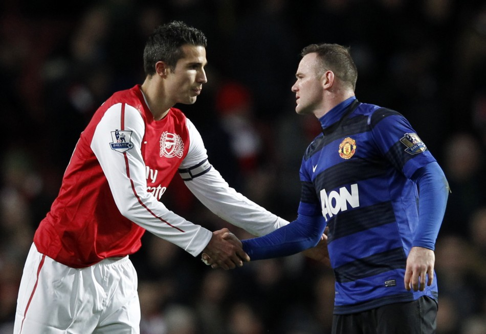 Wayne Rooney And Robin Van Persie Wallpaper