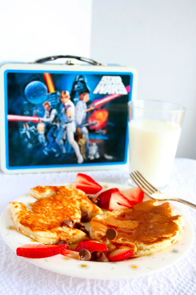 Star Wars Neapolitan pancakes from last Star Wars day!