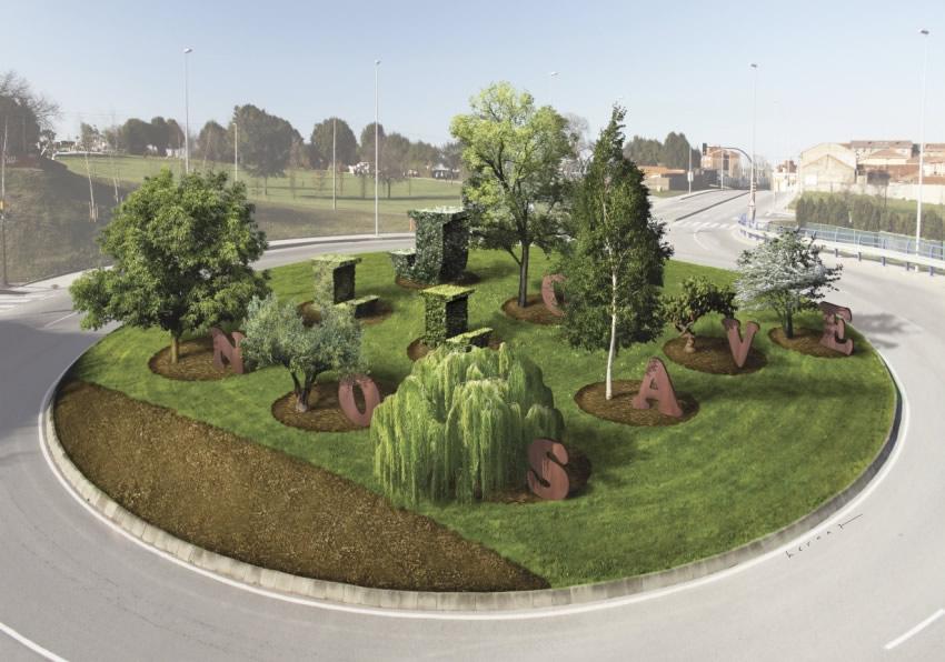 Juan hernaz dos rotondas two roundabouts for Jardin urbano gijon