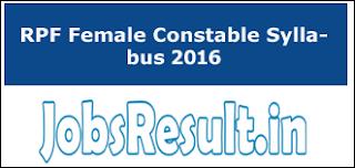 RPF Female Constable Syllabus 2016