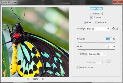 photoshop cs6 : smart sharpen tool