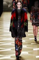 кожено палто с косъм 2014 Roberto Cavalli