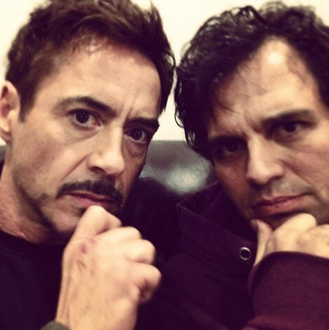 mark ruffalo,robert downey jr.