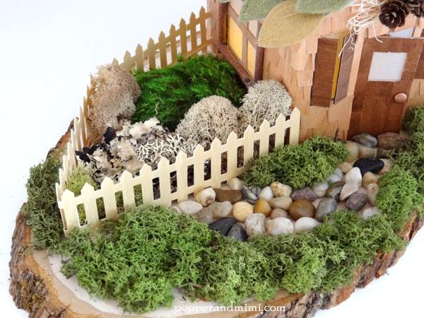 DIY Rustic Woodland Party Decor Centerpiece moss garden | popperandmimi.com