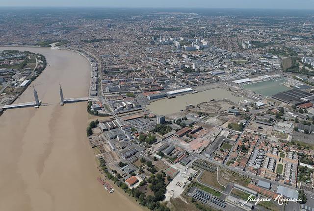 vue aerienne du pont bacalan bastide