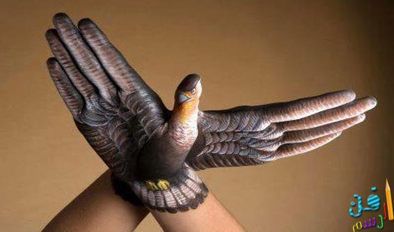 فن الرسم على اليد