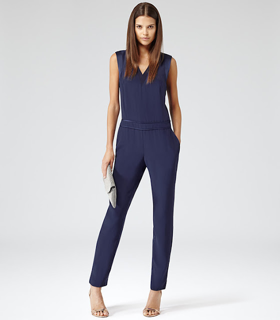 reiss blue jumpsuit