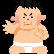 子供相撲のイラスト
